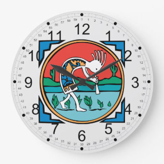 Native American Indian Kokopelli Wall Clocks