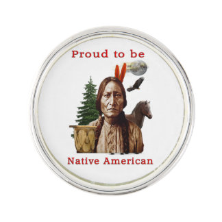 Native American Indian Lapel Pin