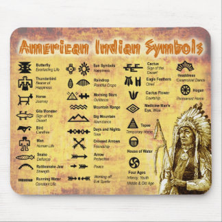 Native American Indian Symbols Mouse Pad