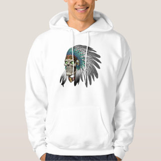 Native American Indian Tribal Gothic Skull Hoodie