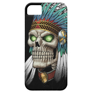 Native American Indian Tribal Gothic Skull iPhone 5 Cases