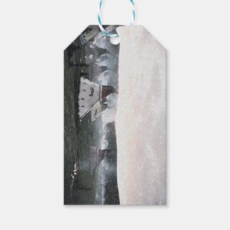 Native American Indian Village Gift Tags