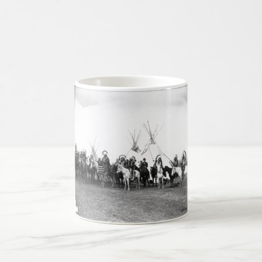 Native American Indian Vintage Portrait Basic White Mug