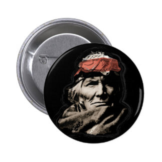 Native American Indian Warrior 6 Cm Round Badge