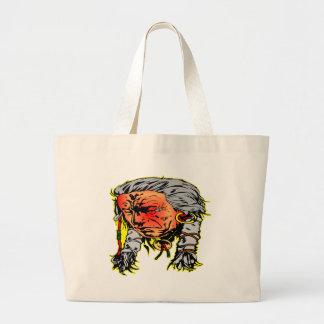 Native American Indian Warrior Canvas Bag