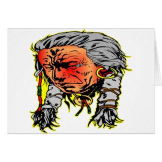 Native American Indian Warrior Greeting Card