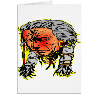 Native American Indian Warrior Card