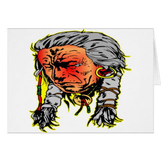 Native American Indian Warrior Greeting Card