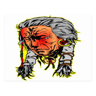 Native American Indian Warrior Postcard