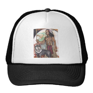 Native American Indian & Wolf Mesh Hats