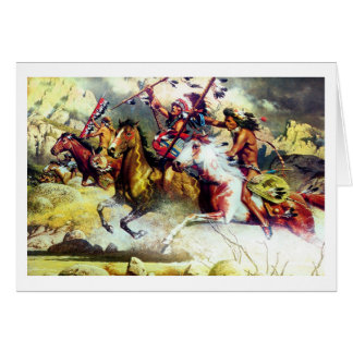 NATIVE AMERICAN INDIANS - CHEYENNE GREETING CARD