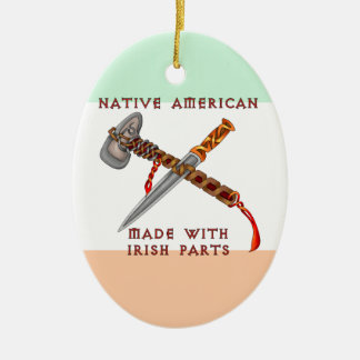 Native American/Irish Christmas Ornament