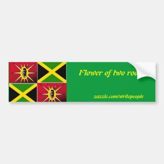 Native american-Jamaican Bumper Sticker
