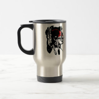 Native American Logo Stainless Steel Travel Mug