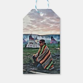Native American man meditating