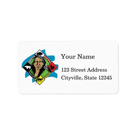 Native American Medicine Wheel Address Label