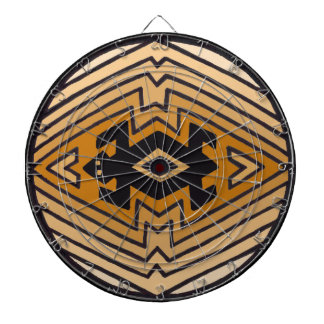 Native American Mimbres Bear Dartboard