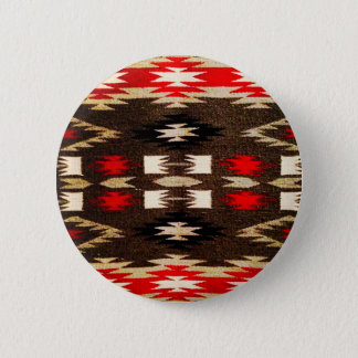 Native American Navajo Tribal Design Print 6 Cm Round Badge