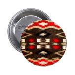 Native American Navajo Tribal Design Print 6 Cm Round Badge