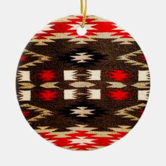 Native American Navajo Tribal Design Print Christmas Ornament