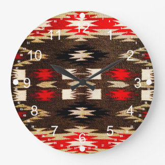 Native American Navajo Tribal Design Print Clock