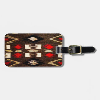 Native American Navajo Tribal Design Print Luggage Tag