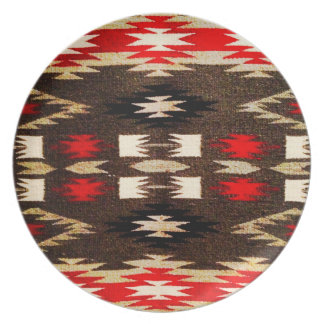 Native American Navajo Tribal Design Print Party Plates