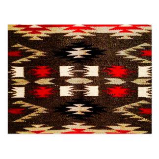 Native American Navajo Tribal Design Print Postcard
