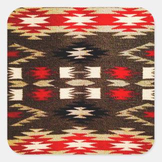 Native American Navajo Tribal Design Print Square Sticker