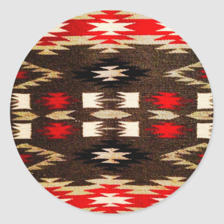 Native American Navajo Tribal Design Print Classic Round Sticker