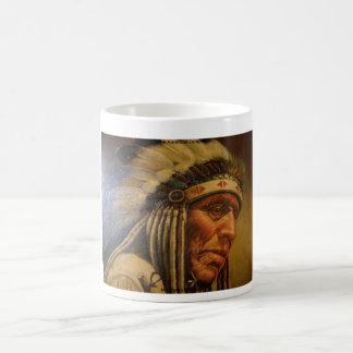 Native American _Oil closeup Basic White Mug