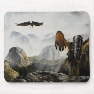 Native American Painting~ Welcome Friend Mouse Mat