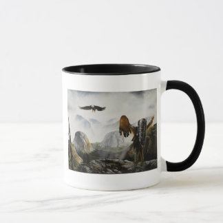 Native American Painting~ Welcome Friend Mug