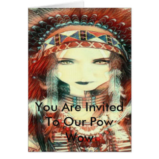 native american party card