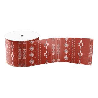 Native American Pattern Holiday Ribbon Any Color Grosgrain Ribbon