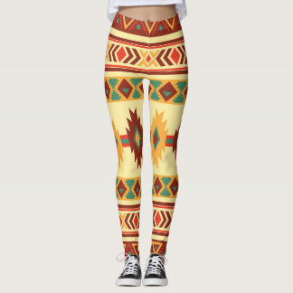 Native American Pattern: Sunny Earth tones Leggings