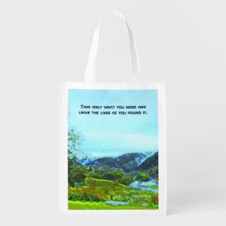 native american philosophy reusable grocery bag