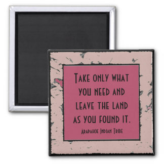 native american philosophy square magnet