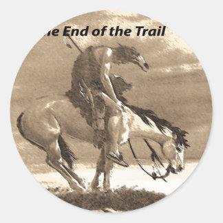 Native American Quotes Classic Round Sticker