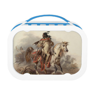 Native American Rider Lunch Box