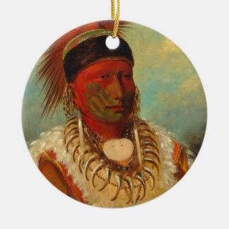 Native American Round Ceramic Decoration
