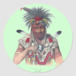 Native American Round Stickers