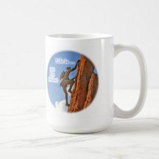 Native American Scaling a Peak Mug
