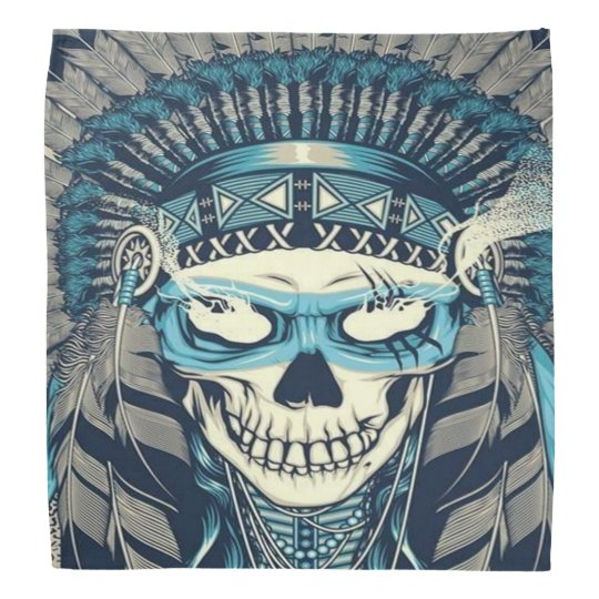 Native American Skull Bandanna