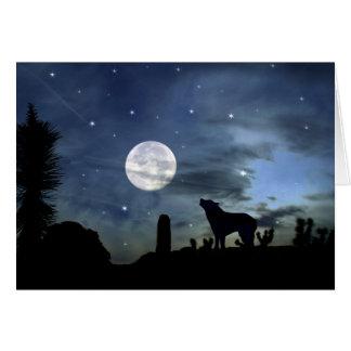 Native American Southwestern Coyote Xmas Card