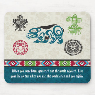 Native American Symbols and Wisdom - Bear Mouse Pad