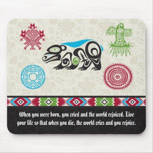 Native American Symbols and Wisdom - Bear Mouse Pad
