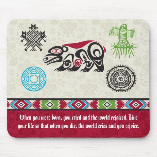 Native American Symbols and Wisdom - Bear Mouse Pads