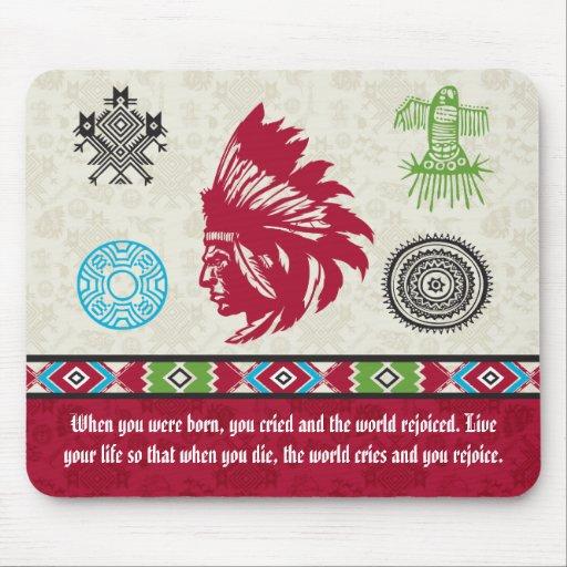 Native American Symbols and Wisdom - Chief Mousepad