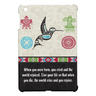 Native American Symbols and Wisdom - Hummingbird iPad Mini Cases